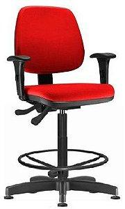 DUPLICADO - Cadeira Caixa Job Alta Ergonômica Aro  Supermercado Atendimento Vallet