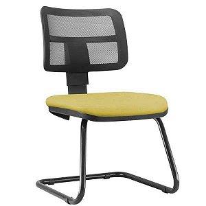 Cadeira Zip Executiva Fixa Escritório Atendimento Cantilever Aproximação