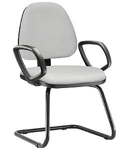 Cadeira Sky Executiva Fixa Com Braços Fixos Escritório Atendimento Cantilever Aproximação