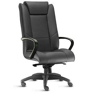 Cadeira Presidente Escritório Corporativa New Onix Braços Fixos Home Office Giratória