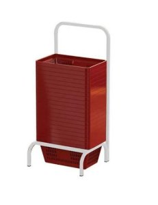 Kit Suporte Simples Com 20 Cestos De Compras de 13 L Capacidade Supermercado Mercado Padaria Mercearia Empório