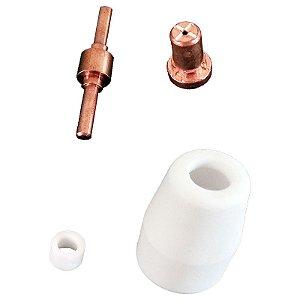 Kit Consumíveis para Tocha Corte Plasma PT31 40 Peças