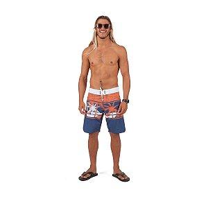 Boardshort Estampado Laranja Com Cadarço - 44 - Mormaii Outlet Online
