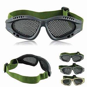 Óculos de proteção Airsoft tela Verde