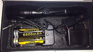 Super lanterna grande led t6 2 baterias