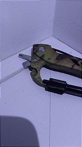 Mosquetão Canivete Camuflado