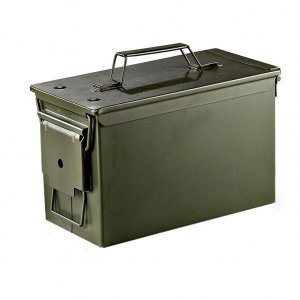 Caixa de Munição de Ferro - Militar Guerra ( Vazia )