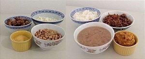 Arroz, feijão com músculo e abóbora - comida pronta Liofilizado, ração militar
