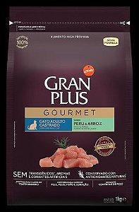 Ração Gran Plus Gourmet Gato Castrado Peru e Arroz