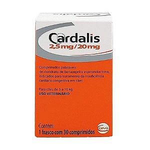 CARDALIS PARA CÃES COM INSUFICIÊNCIA CARDÍACA - 30 COMPRIMIDOS