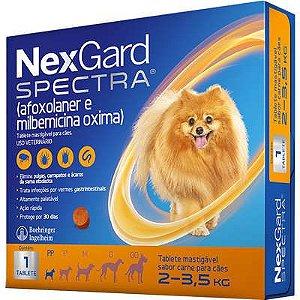 Nexgard Spectra Antipulgas e Carrapatos para cães de 7,6 a 15KG - 1 TABLET