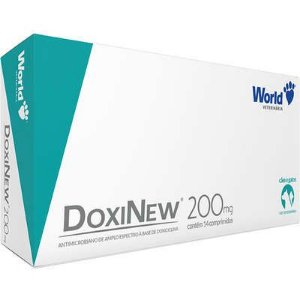 WORLD DOXINEW 200MG PARA CÃES COM ATÉ 40KG - COM 14 COMPRIMIDOS