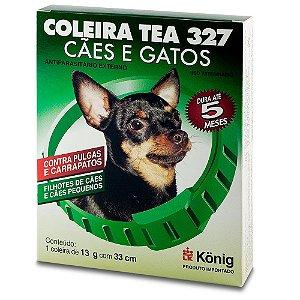 COLEIRA KONIG ANTIPARASITÁRIO TEA 327 COM 33CM