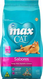 RAÇÃO MAX CAT SABORES PARA GATOS ADULTOS