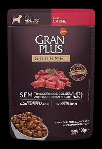 Ração Úmida Affinity PetCare GranPlus Sachê Gourmet para Cães Adultos Carne - 85g