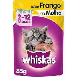 Ração Úmida Whiskas Sachê Frango ao Molho para Gatos Filhotes - 85g