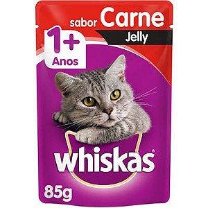 Ração Úmida Whiskas Sachê Carne Jelly para Gatos Adultos - 85g