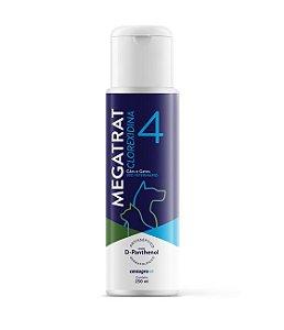Shampoo Antisséptico Centagro Megatrat Clorexidina 4% e D-panthenol para Cães - 250ml