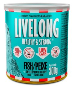 Alimento Natural Livelong Sabor Peixe para Cães - 300G