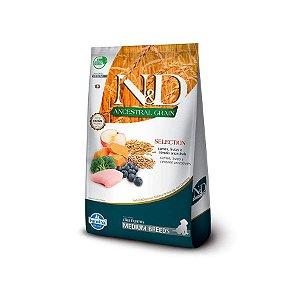 Ração Farmina N&D Ancestral Selection Sabor Carne, Frutas e Cereais para Cães Filhotes de Raças Médias Sabor Frango - 15kg