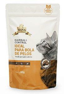 Snacks Hana Healthy Life Hairball Control para Gatos Adultos - 60g