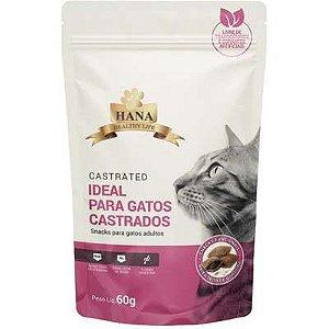 Snacks Hana Healthy Life Castrated para Gatos Adultos - 60g