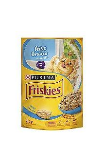 Ração Nestlé Purina Friskies Sachê Peixe Branco ao Molho para Gatos - 85g