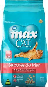 RAÇÃO MAX CAT SABORES DO MAR SABOR PEIXE, ATUM E CAMARÃO