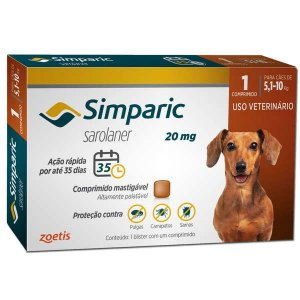 SIMPARIC 20MG PARA CÃES DE 5,1 - 10KG