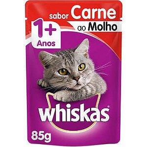 Ração Úmida Whiskas Sachê Carne ao Molho para Gatos Adultos - 85g