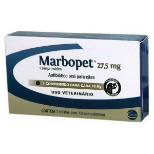 ANTIBIÓTICO - MARBOPET 27,5MG - 10 COMPRIMIDOS