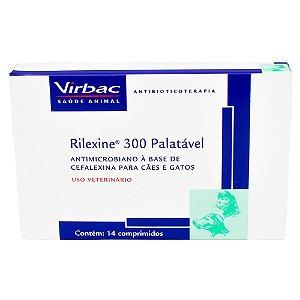 VIRBAC RILEXINE 300 PALATÁVEL 14 COMPRIMIDOS