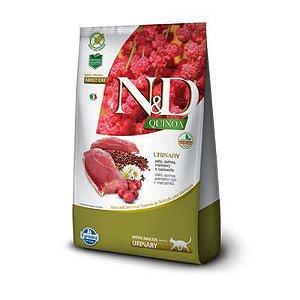 RAÇÃO FARMINA N&D QUINOA URINARY SABOR PATO, QUINOA, CRANBERRY E CAMOMILA PARA GATOS ADULTOS