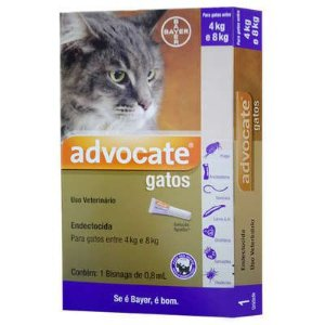 BAYER ADVOCATE PARA GATOS COM 4 A 8 KG - 0,8ML