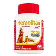 SUPLEMENTO - VETNIL HEMOLITAN PET - 30 COMPRIMIDOS