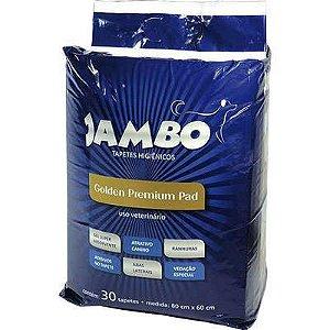 JAMBO TAPETE HIGIENICO GOLDEN PREMIUM PET COM 30 UNIDADES