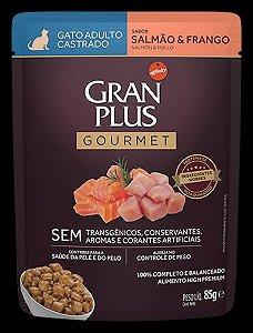 Ração Úmida Affinity PetCare GranPlus Sachê Gourmet para Gatos Castrados Salmão e Frango - 85g