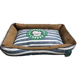 IMPERIAL PET CAMA QUADRADA STAR BACKS COFFE