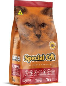 RAÇÃO SPECIAL CAT SABOR CARNE PARA GATOS ADULTOS