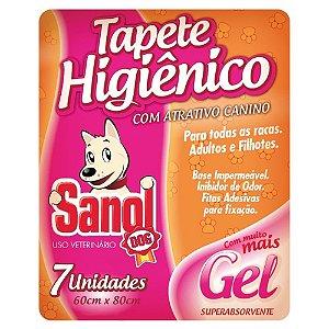TAPETE HIGIÊNICO SANOL DOG COM 7UNIDADES