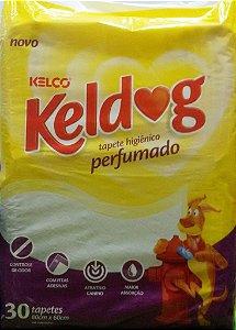 TAPETE HIGIÊNICO KELDOG PERFUMADO COM 30 UNIDADES