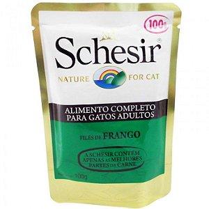 SCHESIR NATURE ALIMENTO COMPLETO SABOR FRANGO PARA GATOS 100G