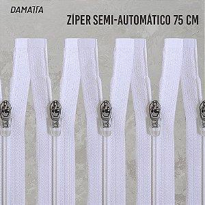 ZIPER SEMI - AUTOMATICO DESTACAVEL - 75CM - BCO - 100 UNIDADES