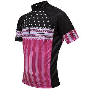 Camisa Bike Frill infantil – Rosa