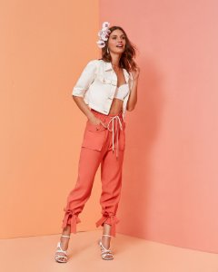 JAQUETA CURTA JEANS - OFF WHITE