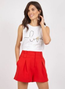 T-SHIRT LOVE HEART - BRANCO | REF: V1MATS32