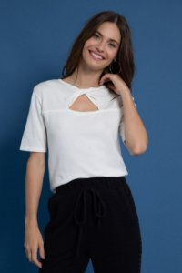 BLUSA TRICOT JULIE - OFF WHITE | REF: 1222