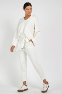 CALCA COMFY AMARRACAO TRICOT - OFF WHITE | REF: I1TRCL04