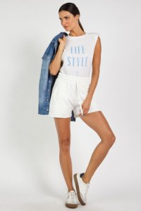 SHORTS MOLETOM COM COS COMFY - OFF WHITE | REF: I1MASH01