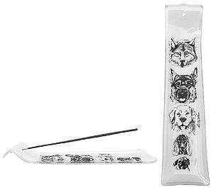 Incensário de vidro - cães